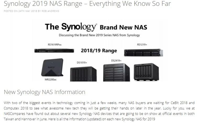 Synology 2019 모델들을 보니 기다리지말고 918+ 사야되나